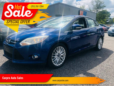 2012 Ford Focus for sale at Carpro Auto Sales in Chesapeake VA