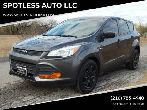 2016 Ford Escape for sale at SPOTLESS AUTO LLC in San Antonio TX