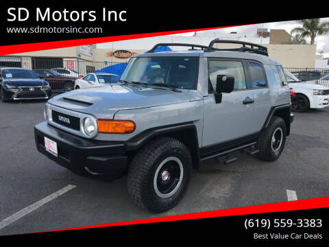 2013 Toyota FJ Cruiser for sale at SD Motors Inc in La Mesa CA