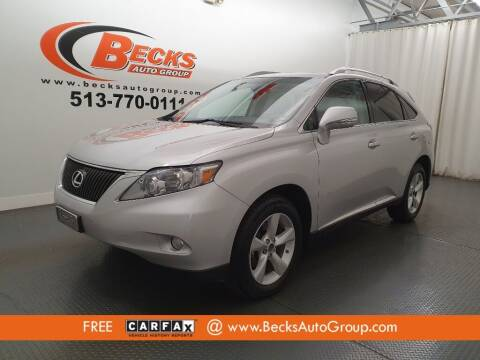 2010 Lexus RX 350 for sale at Becks Auto Group in Mason OH
