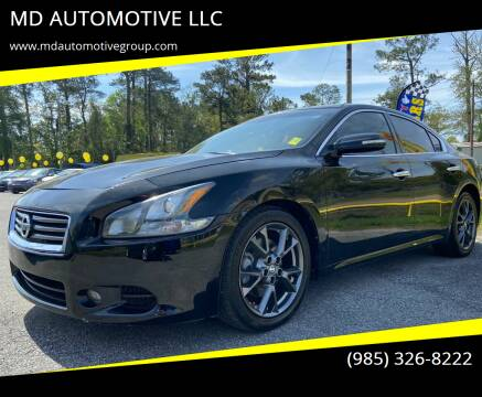2012 Nissan Maxima for sale at MD AUTOMOTIVE LLC in Slidell LA