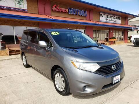 2015 Nissan Quest for sale at Ohana Motors in Lihue HI