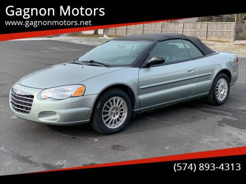 2005 Chrysler Sebring for sale at Gagnon  Motors - Gagnon Motors in Akron IN