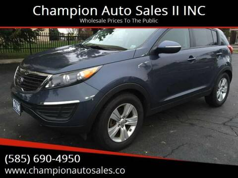 2012 Kia Sportage for sale at Champion Auto Sales II INC in Rochester NY
