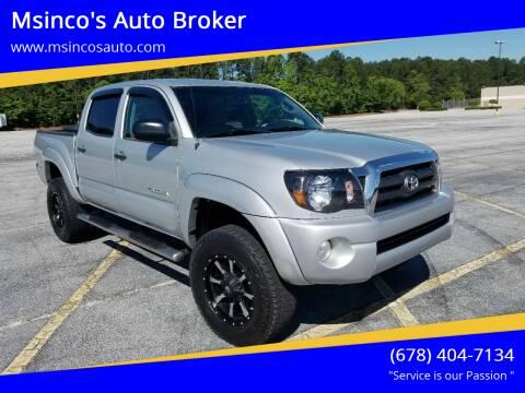 2010 Toyota Tacoma for sale at Msinco's Auto Broker in Snellville GA