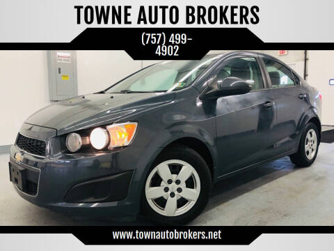 2013 Chevrolet Sonic for sale at TOWNE AUTO BROKERS in Virginia Beach VA
