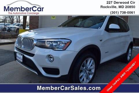 2017 BMW X3 for sale at MemberCar in Rockville MD