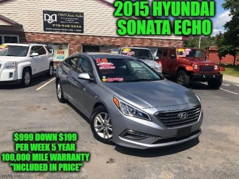 2015 Hyundai Sonata for sale at D&D Auto Sales, LLC in Rowley MA