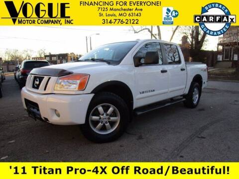 2011 Nissan Titan for sale at Vogue Motor Company Inc in Saint Louis MO