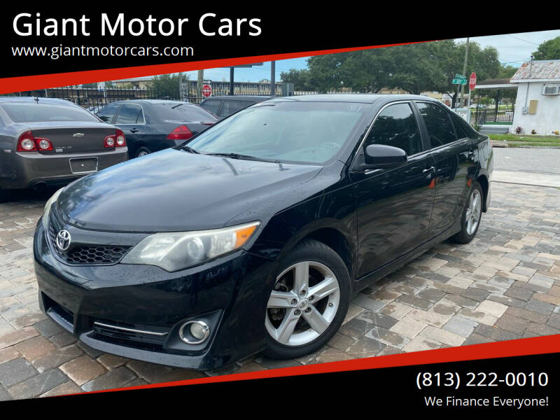 2012 Toyota Camry for sale at Giant Motor Cars in Tampa FL
