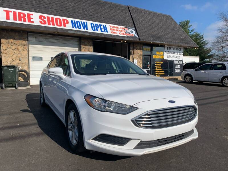 2018 Ford Fusion for sale at Best Choice Auto Sales in Lexington KY