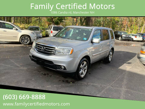 2015 Honda Pilot for sale at Family Certified Motors in Manchester NH