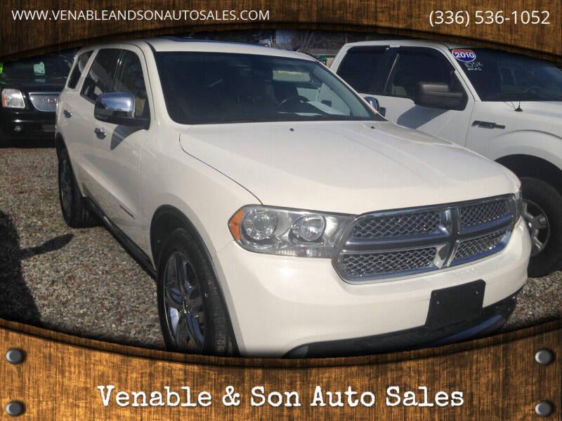 2011 Dodge Durango for sale at Venable & Son Auto Sales in Walnut Cove NC