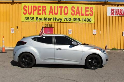 2015 Hyundai Veloster for sale at Super Auto Sales in Las Vegas NV