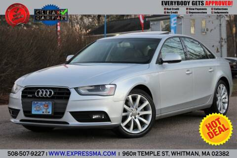 2013 Audi A4 for sale at Auto Sales Express in Whitman MA