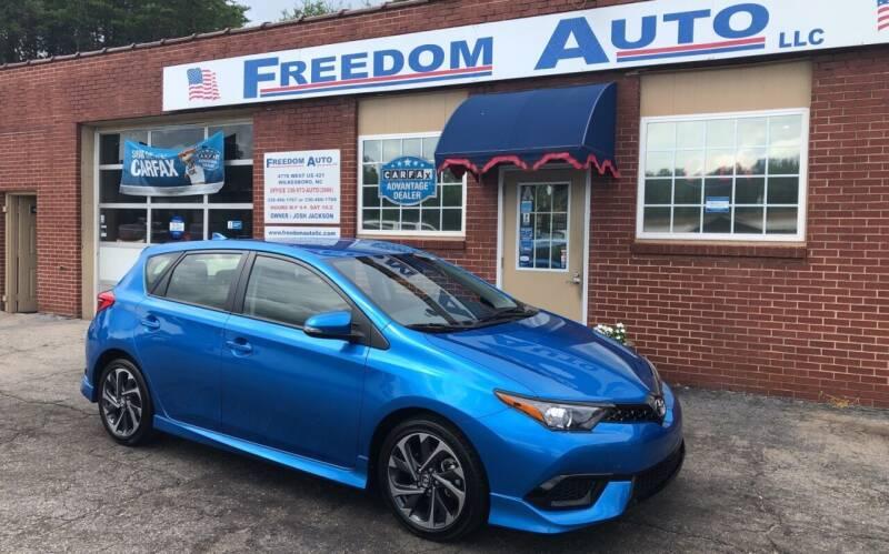 2017 Toyota Corolla iM for sale at FREEDOM AUTO LLC in Wilkesboro NC