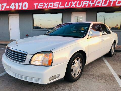 2005 Cadillac DeVille for sale at Texas Luxury Auto in Cedar Hill TX