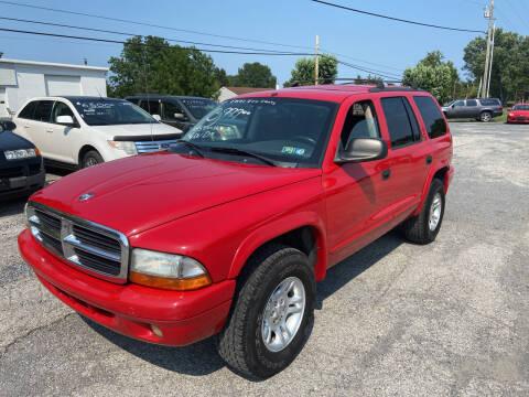 2002 Dodge Durango for sale at US5 Auto Sales in Shippensburg PA