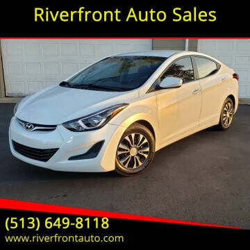 2016 Hyundai Elantra for sale at Riverfront Auto Sales in Middletown OH