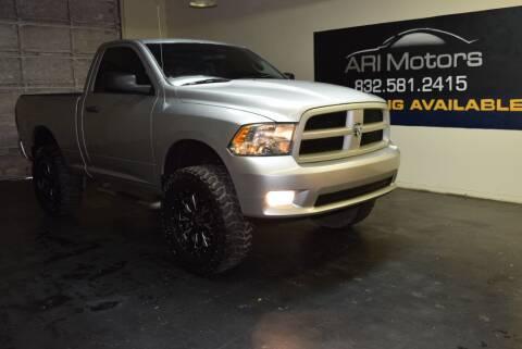 2012 RAM Ram Pickup 1500 for sale at ARI Motors in Houston TX