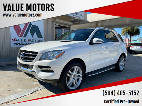 2015 Mercedes-Benz M-Class for sale at VALUE MOTORS in Kenner LA