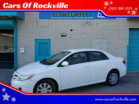 2011 Toyota Corolla for sale at Cars Of Rockville in Rockville MD
