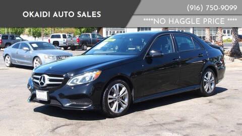 2014 Mercedes-Benz E-Class for sale at Okaidi Auto Sales in Sacramento CA