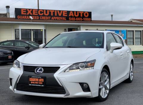 2015 Lexus CT 200h for sale at Executive Auto in Winchester VA