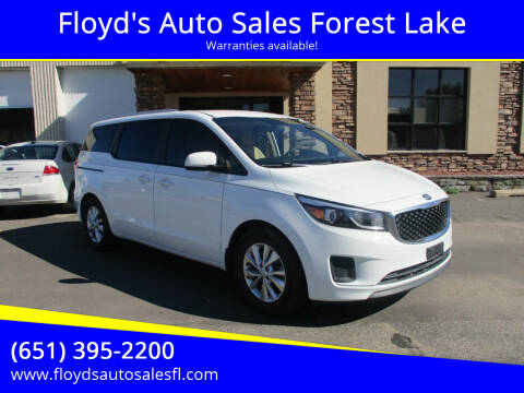 2016 Kia Sedona for sale at Floyd's Auto Sales Forest Lake in Forest Lake MN