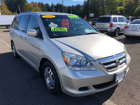 2005 Honda Odyssey for sale at Freeborn Motors in Lafayette, OR