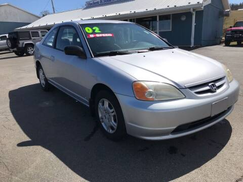 2002 Honda Civic for sale at HACKETT & SONS LLC in Nelson PA
