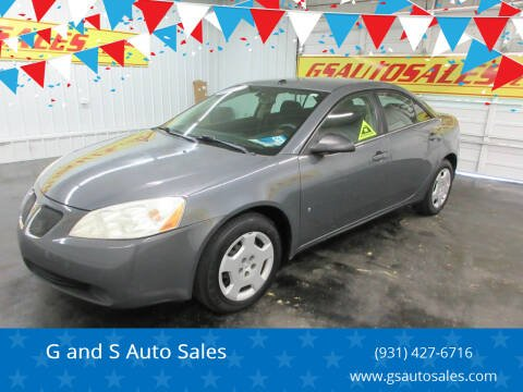 2008 Pontiac G6 for sale at G and S Auto Sales in Ardmore TN