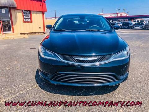 2015 Chrysler 200 for sale at MAGNA CUM LAUDE AUTO COMPANY in Lubbock TX