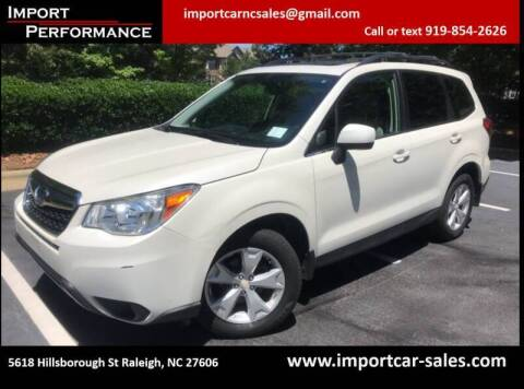 2015 Subaru Forester for sale at Import Performance Sales in Raleigh NC
