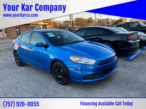 2016 Dodge Dart for sale at Your Kar Company in Norfolk VA