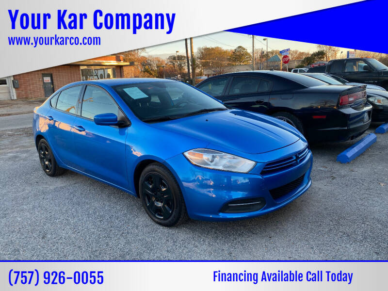 2016 Dodge Dart for sale at Your Kar Company in Norfolk VA