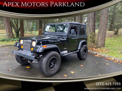 1995 Jeep Wrangler for sale at Apex Motors Parkland in Tacoma WA
