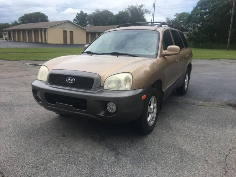 2002 Hyundai Santa Fe for sale at Harbin Motors in Portland TN