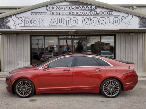 2014 Lincoln MKZ for sale at Don Auto World in Houston TX