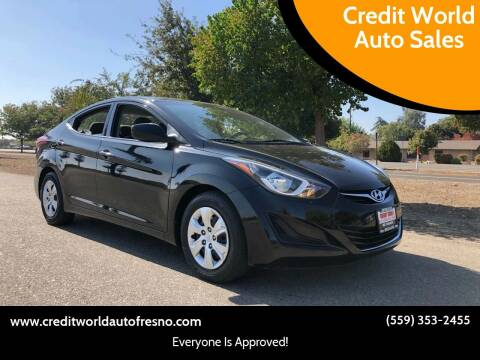2016 Hyundai Elantra for sale at Credit World Auto Sales in Fresno CA