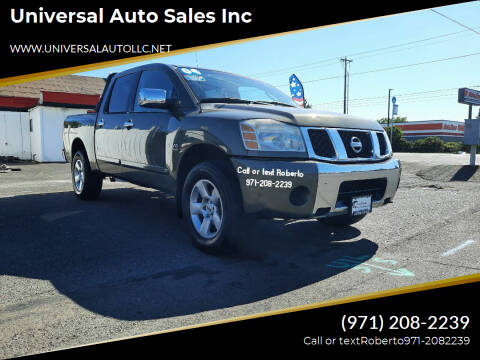 2004 Nissan Titan for sale at Universal Auto Sales Inc in Salem OR