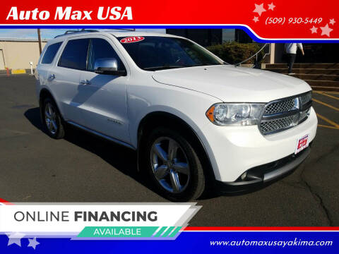2013 Dodge Durango for sale at Auto Max USA in Yakima WA
