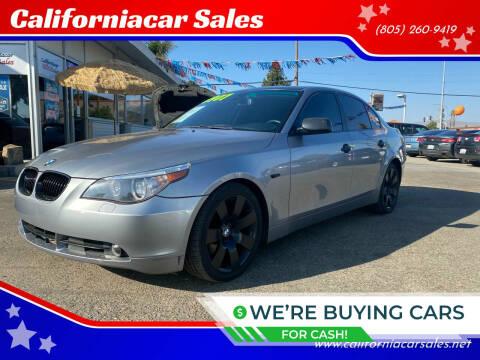 2007 BMW 5 Series for sale at Californiacar Sales in Santa Maria CA