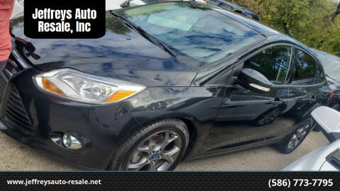 2013 Ford Focus for sale at Jeffreys Auto Resale, Inc in Clinton Township MI