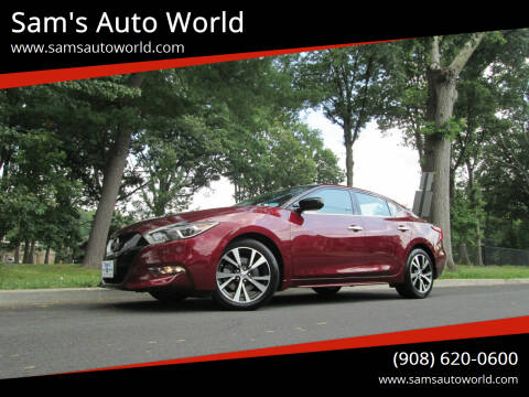 2016 Nissan Maxima for sale at Sam's Auto World in Roselle NJ