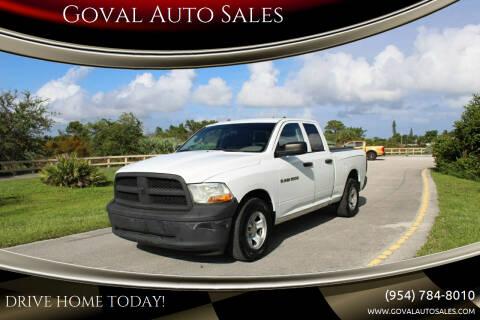 2012 RAM Ram Pickup 1500 for sale at Goval Auto Sales in Pompano Beach FL