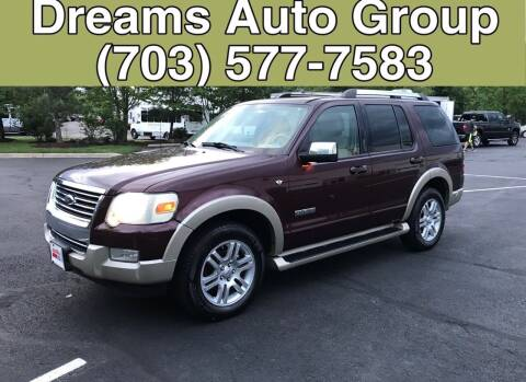 2007 Ford Explorer for sale at Dreams Auto Group LLC in Sterling VA