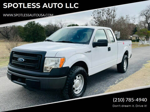 2014 Ford F-150 for sale at SPOTLESS AUTO LLC in San Antonio TX