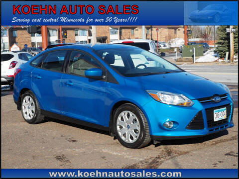 2012 Ford Focus for sale at Koehn Auto Sales in Lindstrom MN