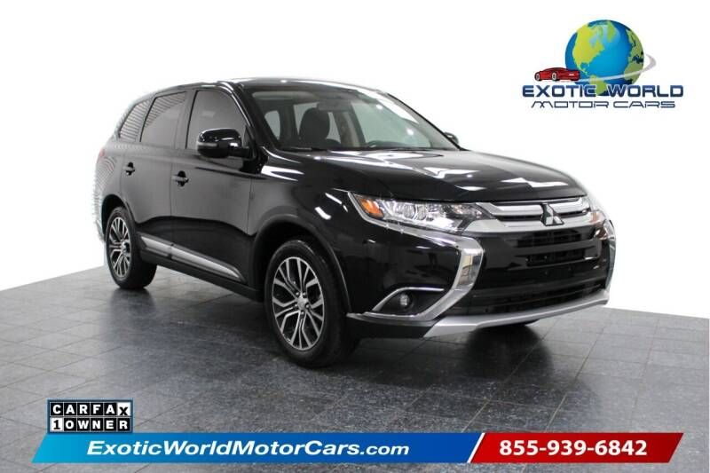 2018 Mitsubishi Outlander for sale at Exotic World Motor Cars in Addison TX